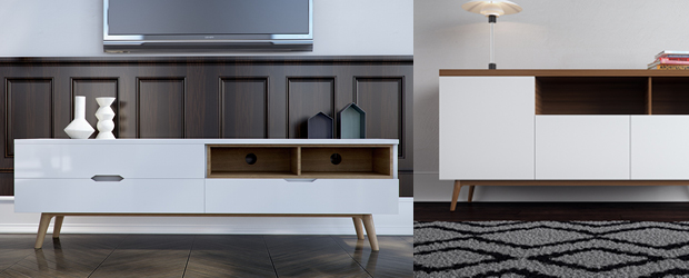 Nilsson TV Stand & Andrej Sideboard
