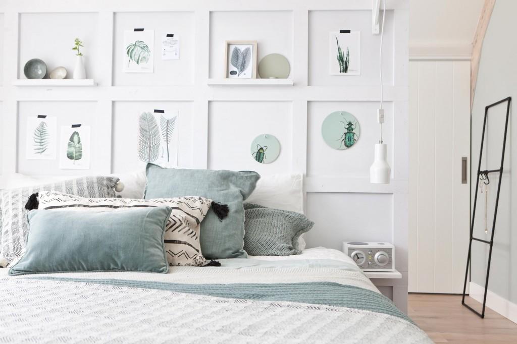 slaapkamer-vakkenwand-maken