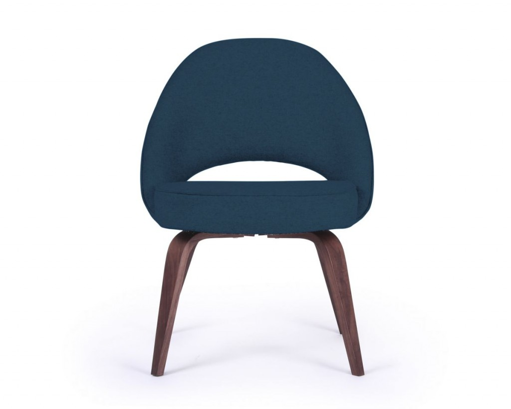 Saarinen Side Chair-Wood_WOOLS_Boucle Twilight