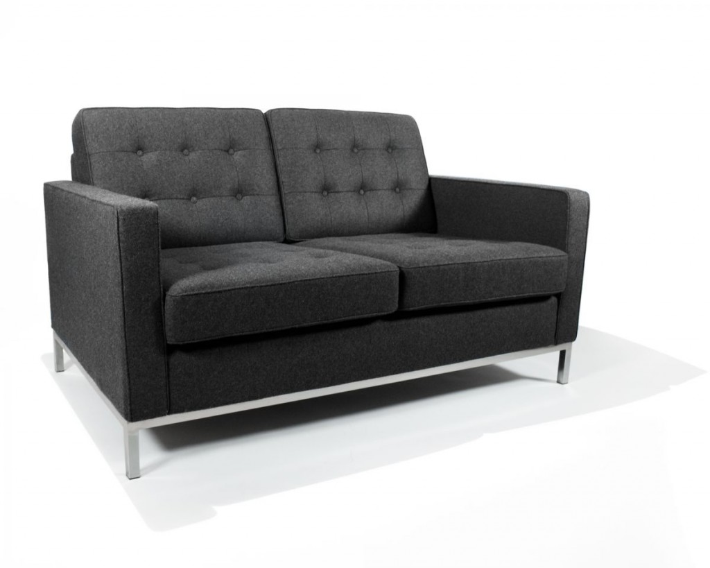 Knoll_Loveseat_BW_Charcoal